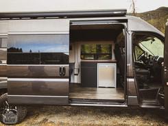 Promaster Van Camper Slider Door Kitchen View