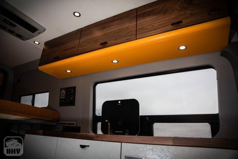 Sprinter Van Camper Kitchen Lights