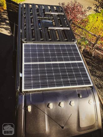 Promaster Van Camper Solar Roof Setup