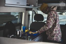 Promaster Van Camper Kitchen Setup