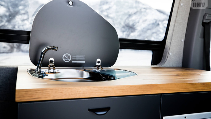 Galley Sink and Stove