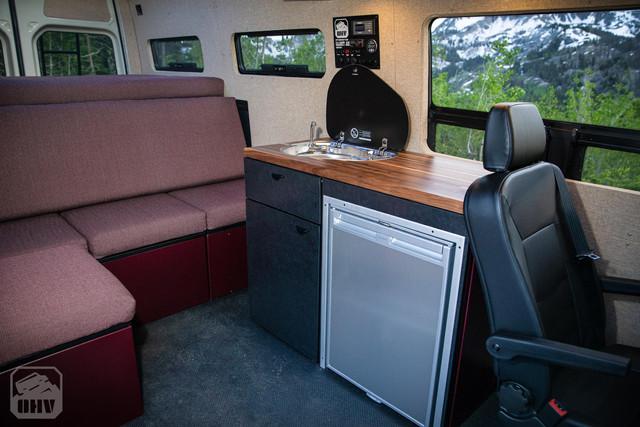 Sprinter Van Camper Kitchen and Seating