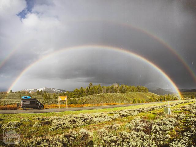 Promaster Van Camper Exteiror View on road