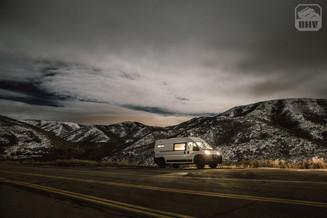 Promaster Van Camper Nighttime Mountain View