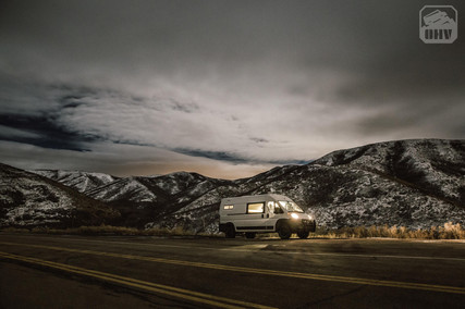 Promaster Van Camper Nighttime Mountain View