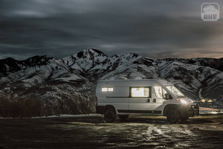 Promaster Van Camper Mountain View at Night