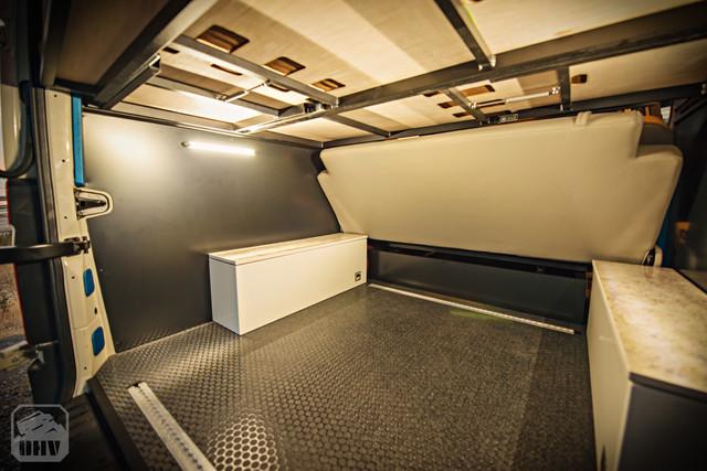 Sprinter Van Camper Rear Storage Lighting