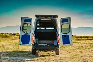 2019 Sprinter Van Camper Rear Storage