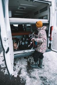 Promaster Van Camper Rear Cargo Storage