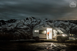 Promaster Van Camper Exterior View Nighttime