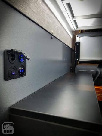 Promaster Van Camper Cargo USB outlets