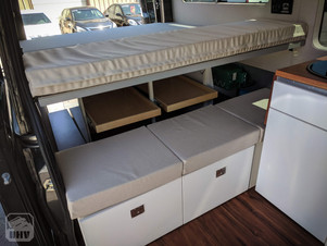 Sprinter Van Camper Bed & Seating