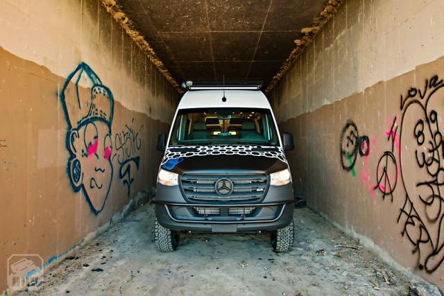 2019 Sprinter Van Camper Front View
