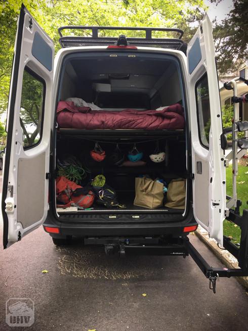 Sprinter Van Camper Rear Gear Storage