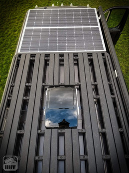 Promaster Van Camper Roof Rack and Solar Panels