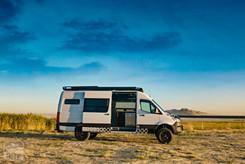 Sprinter Van Camper Slider Door Open View