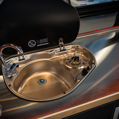Kitchen Galley Sink and Stove