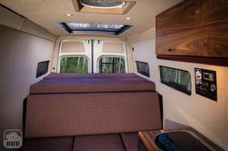 Sprinter Van Camper Bed and Bench