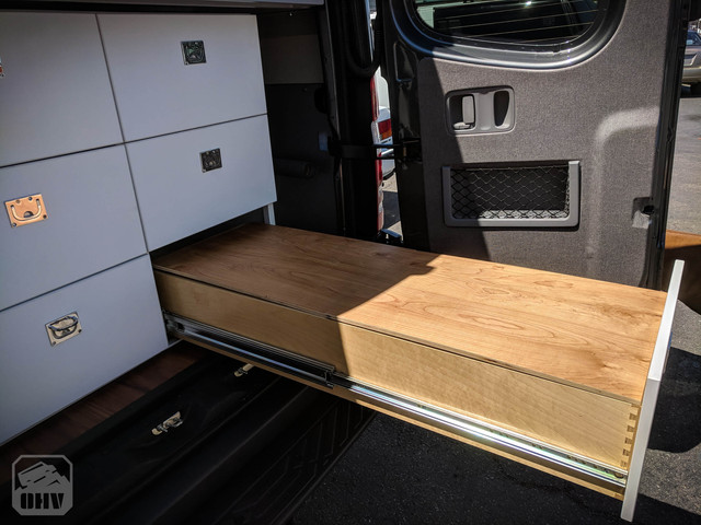 Sprinter Van Camper Slide Out Storage