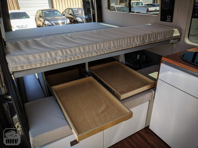 Sprinter Van Camper Drawer Storage
