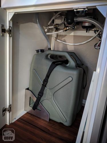 Sprinter Van Camper Grey Water Tank