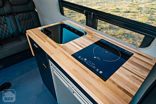 2019 Sprinter Van Camper Compact Sink and Induction Stove