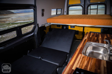 Sprinter Van Camper Convertible Seat and Bed