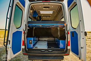 2019 Sprinter Van Camper Rear Interior View