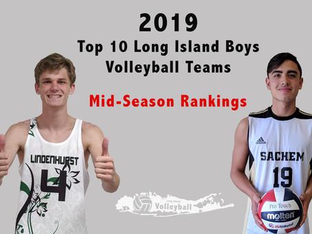 Top 10 Long Island Boys Volleyball Teams Mid-Season Ranking for 2019
