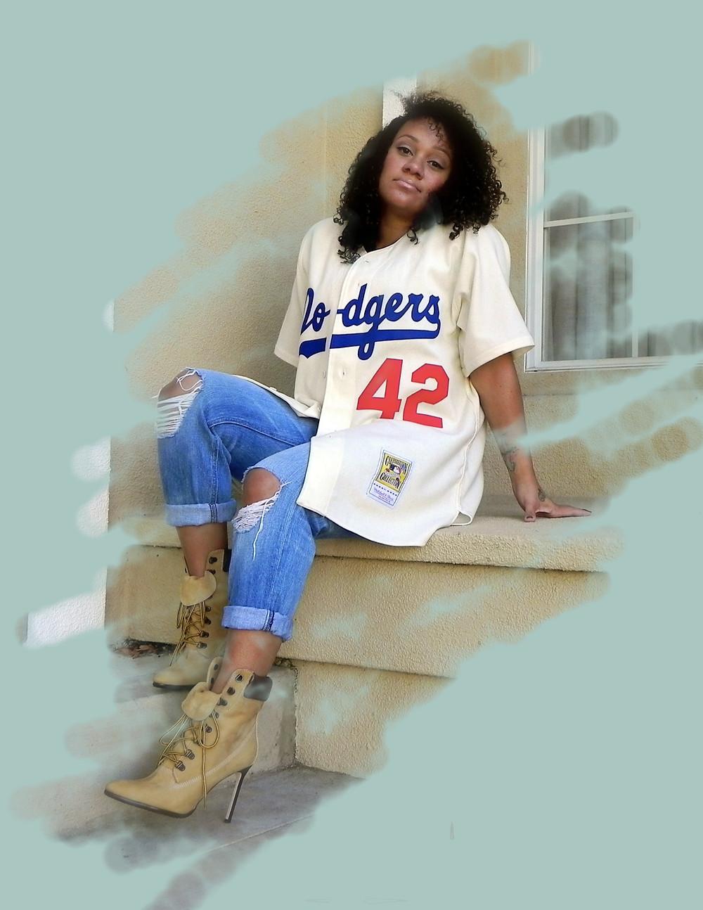 Mitchell & Ness Jackie Robinson Dodgers Jersey, Manolo Blahnik Timbs