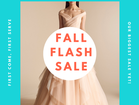 FLASH SAMPLE SALE! SAVE UP TO 80%