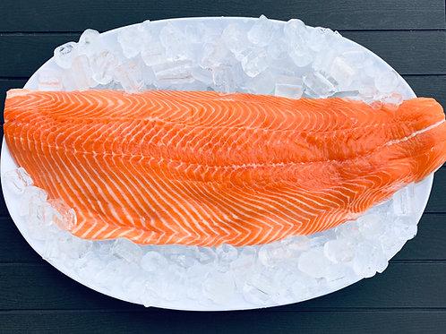 Premium Atlantic Skin-on Salmon Fillet (2.5 - 3 Lb Approx)