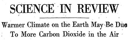 New York Times reporting Climate Change 1956.