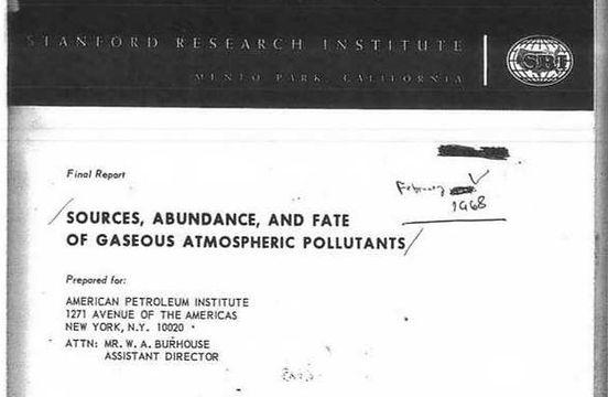 American Petroeum Institute report into global warming 1968