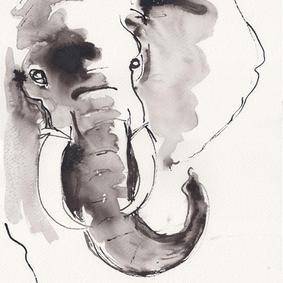 Stor Elefant (SOLGT!)