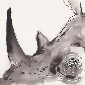 Næsehorn med de smukke øjne (kr. 500,-)