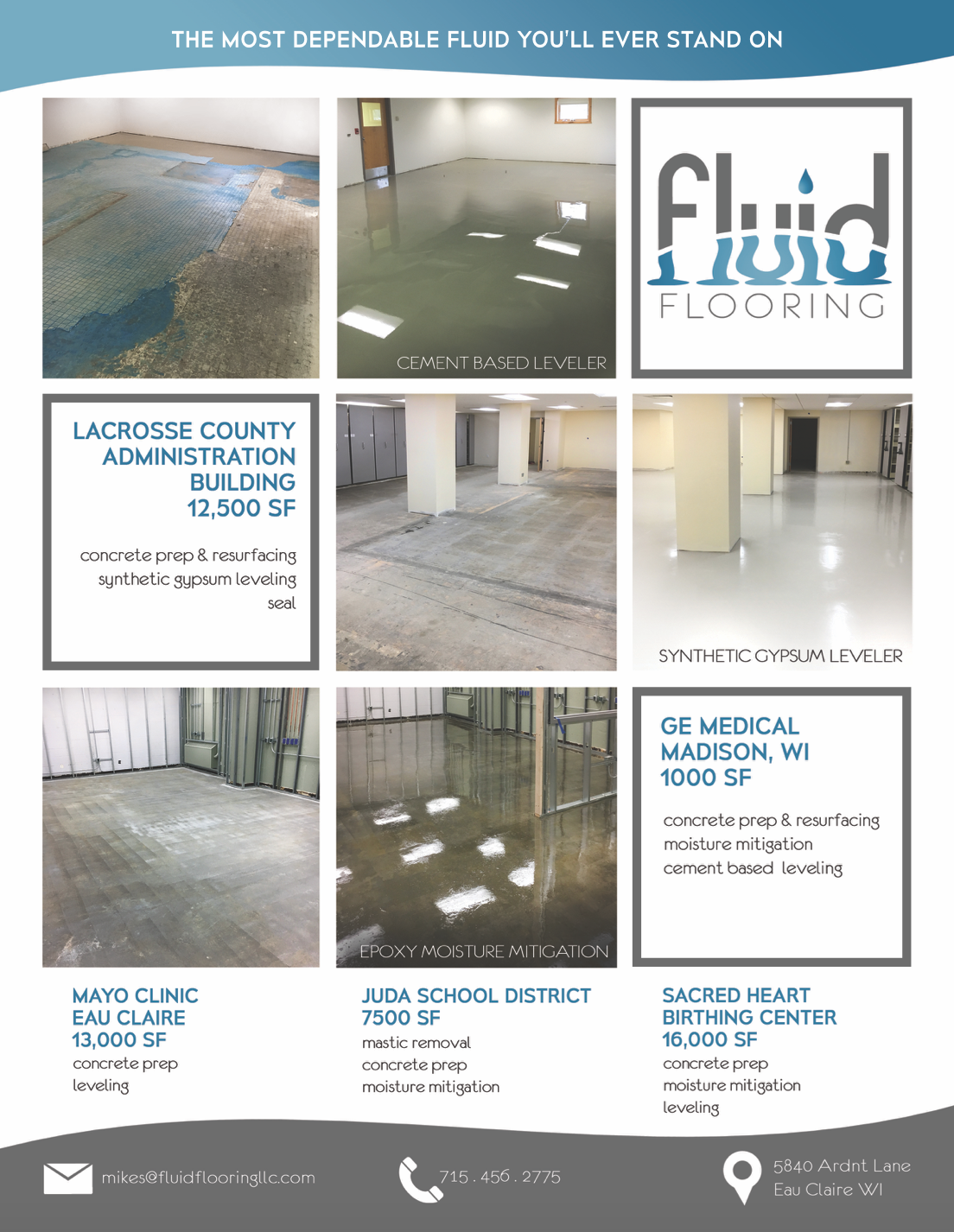Fluid Flooring Sell Sheet