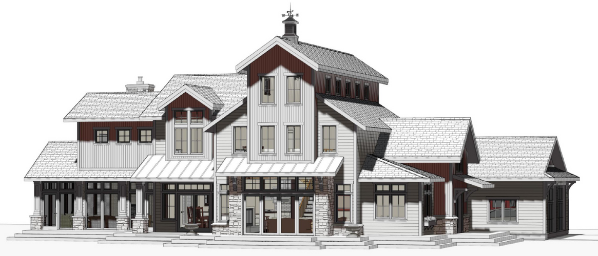 Industrial Farmhouse Perspective