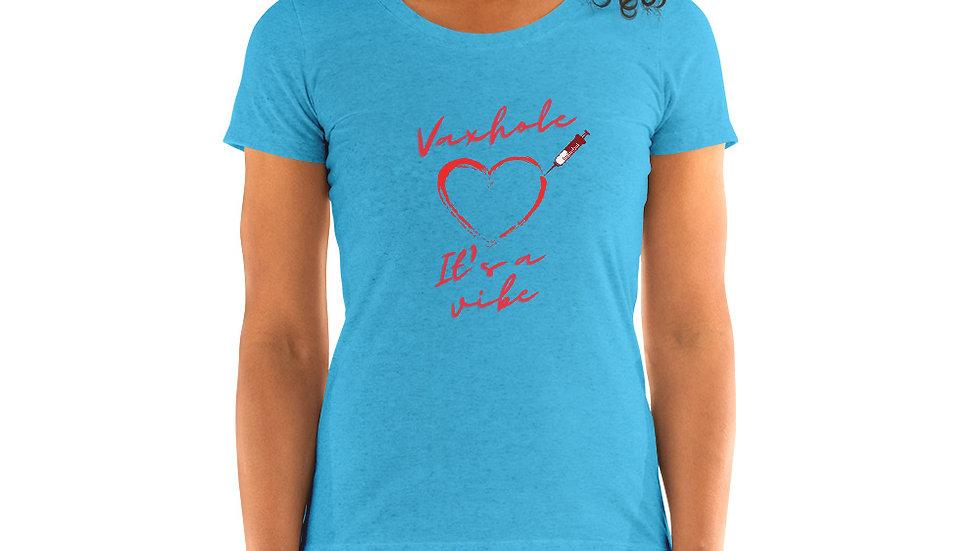 Heart-and-needle short sleeve t-shirt