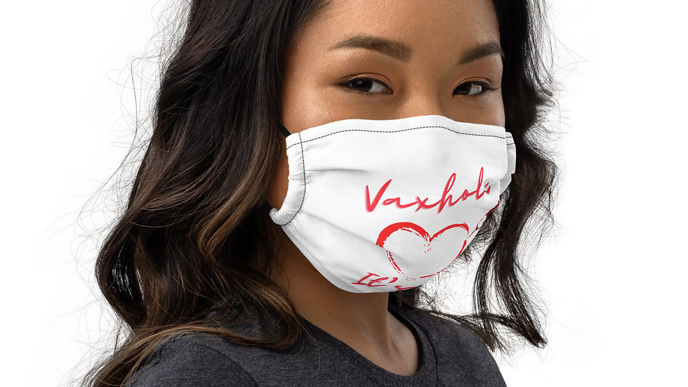 Heart-and-needle Premium face mask