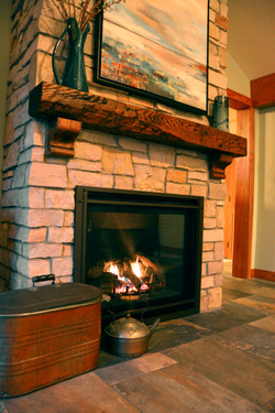Lake Home Fireplace
