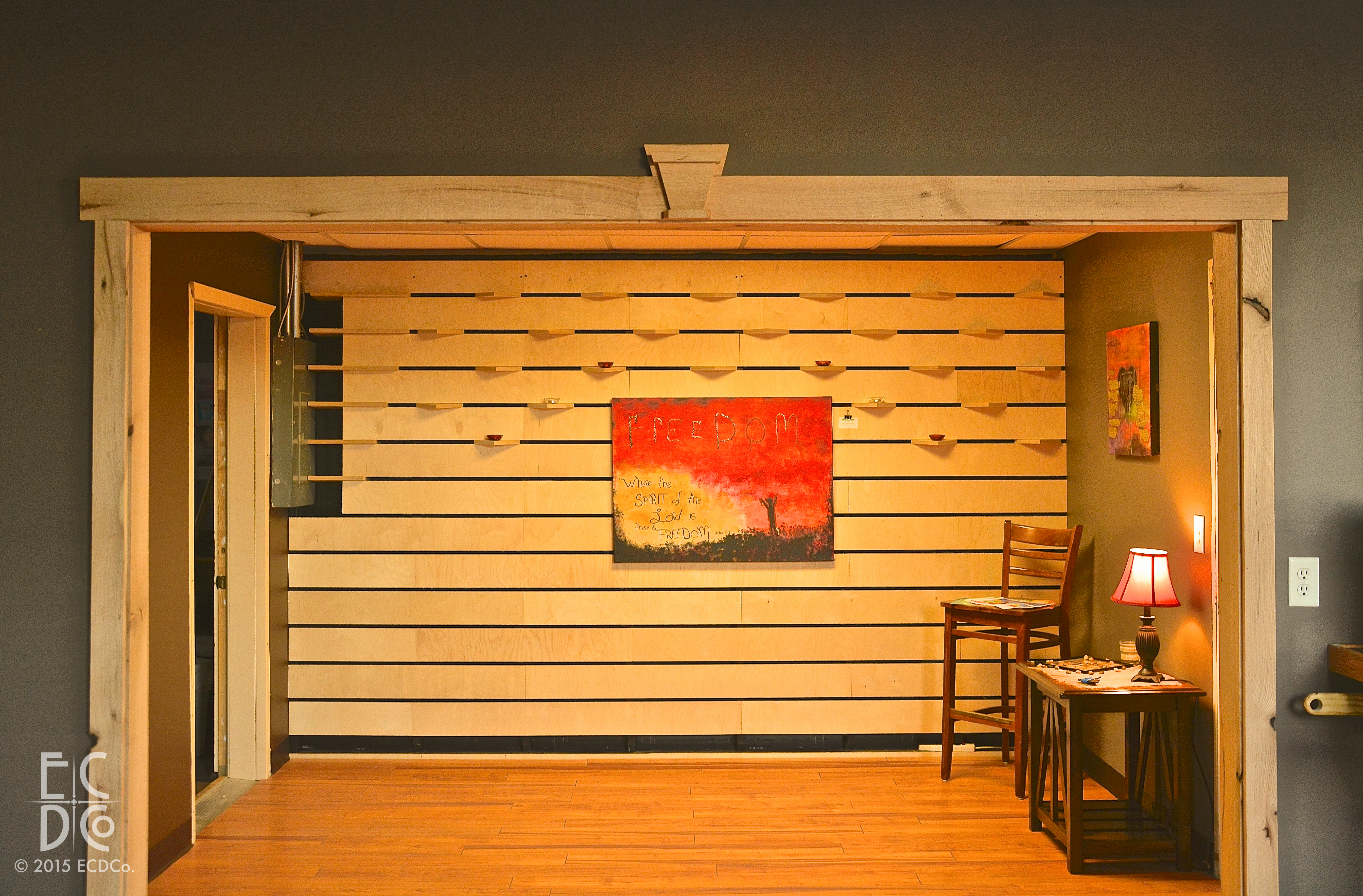 Custom Interior Slat Wall