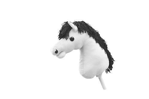 Färdigsydd käpphäst: Vit
