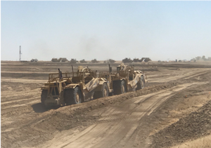 Providing compaction testing services for a 90 acre solar site in Bakersfield, California