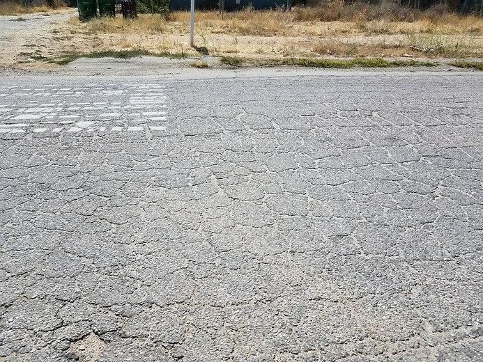 distressed pavement