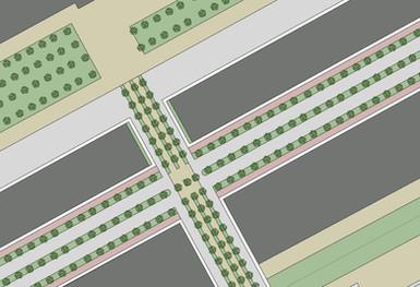 Proposed new road landscape