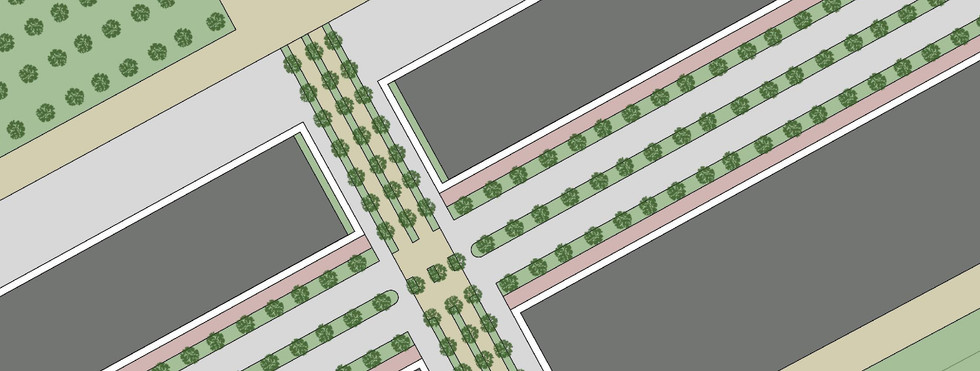 Proposed new road landscape