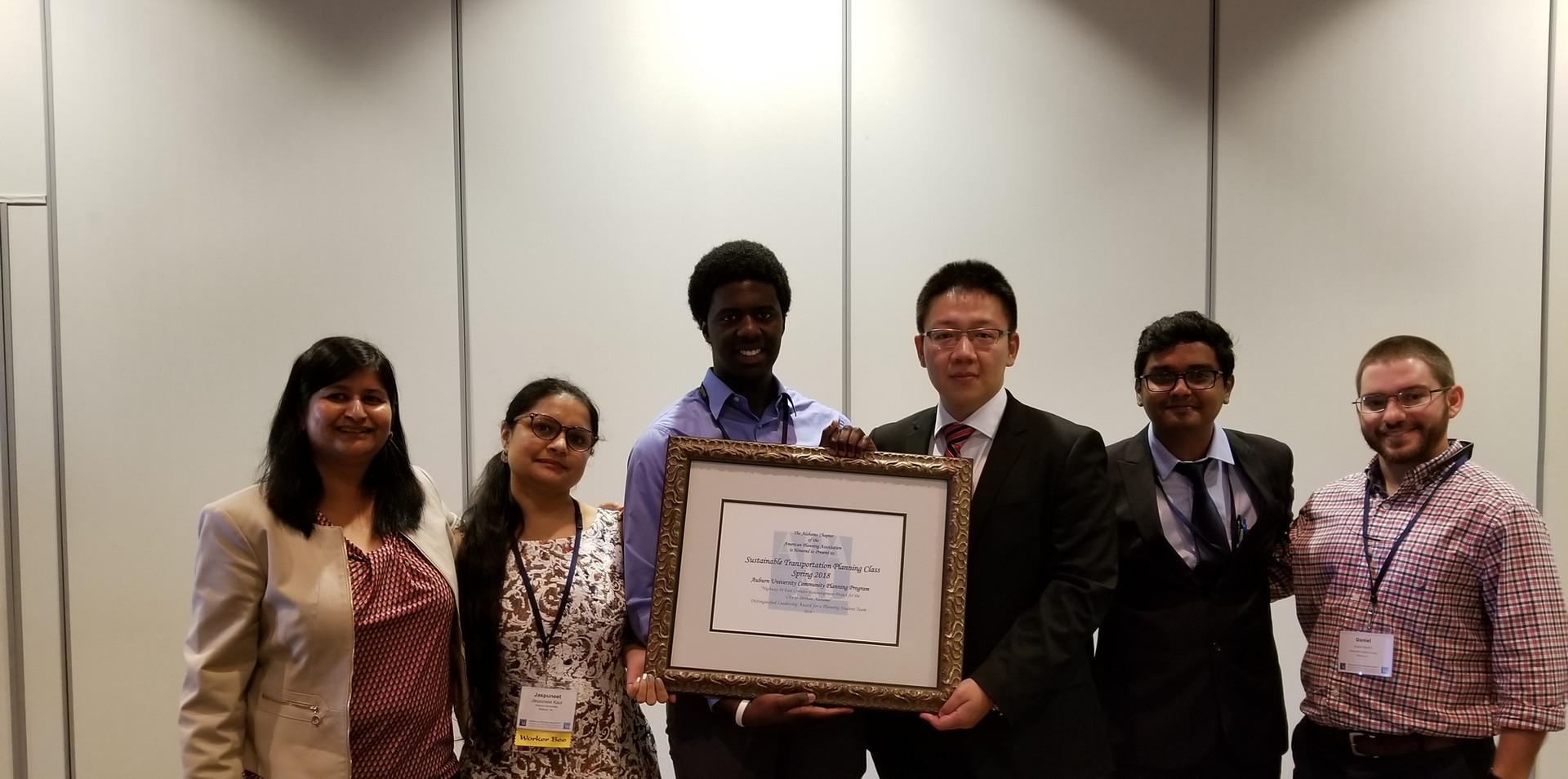 Students receiving award in AL-APA