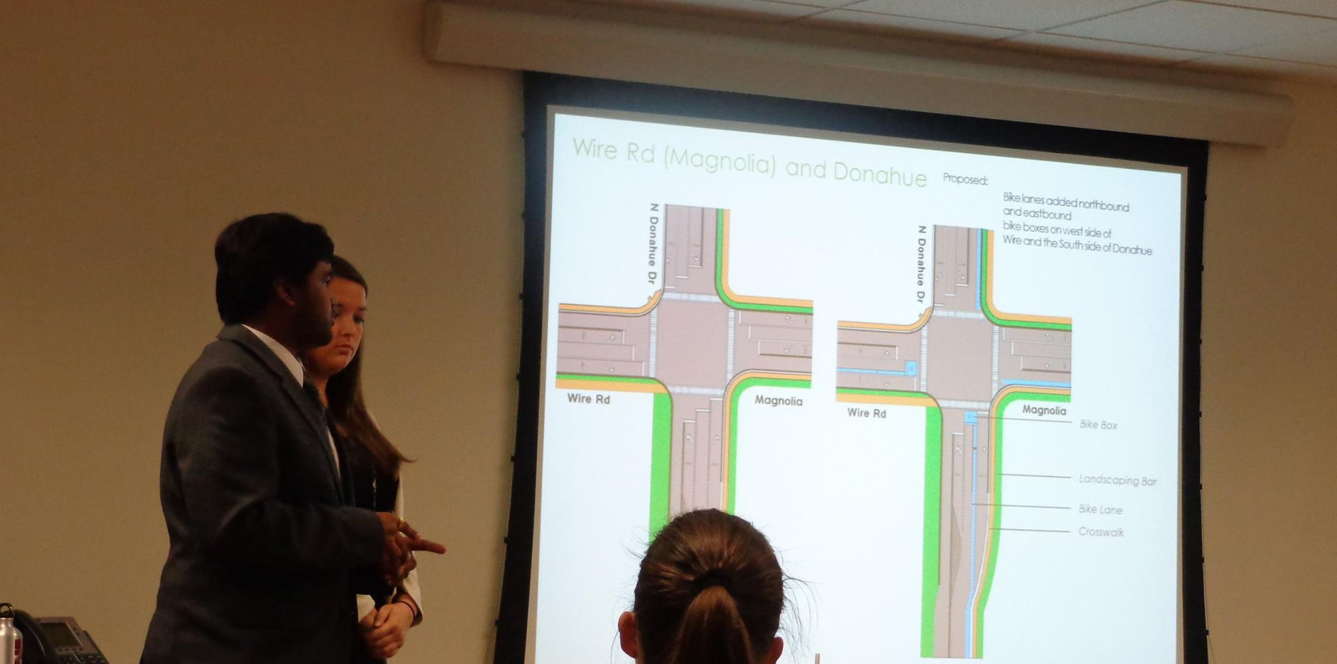 Students presenting the bikeplan