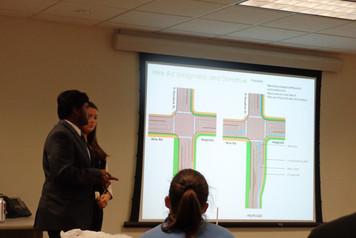 Students presenting the bikeplan